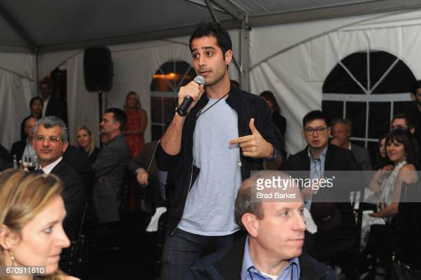 CoFounder and CEO of Periscope Kayvon Beykpour speaks at the Kairos Society Global Summit Welcome Dinner At The Rockefeller Family Estate on April 20...