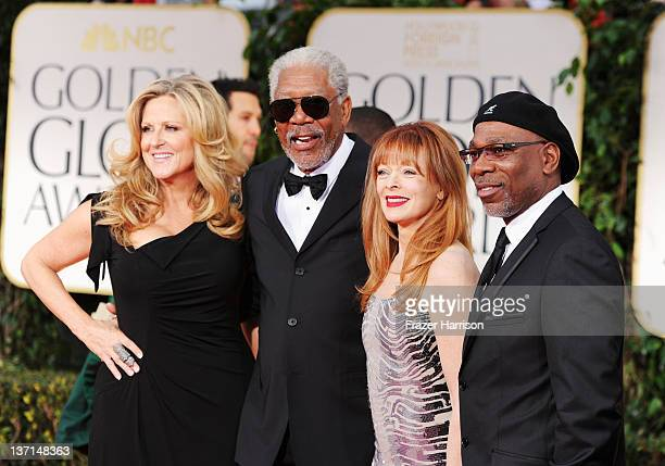 Cofounder and CEO of Revelations Entertainment Lori McCreary actor Morgan Freeman Frances Fisher and actor Alfonso Freeman arrive at the 69th Annual...
