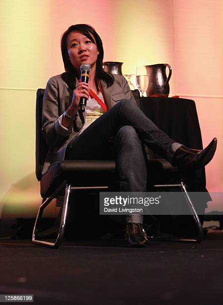 Co-Founder and CEO of Spazzmania Lin Tam speaks onstage during day 2 of the 2011 LA Mobile Entertainment Summit in Association with Variety at...