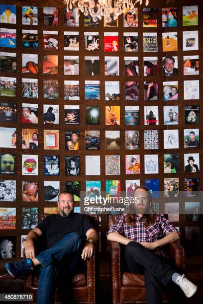 Cofounder and CEO of Vice Shane Smith and publisher John Martin are photographed for Ad Age on October 15 2013 in Williamsburg New York