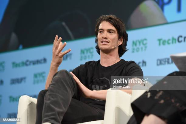 Co-Founder and CEO of WeWork Adam Neumann onstage during TechCrunch Disrupt NY 2017 at Pier 36 on May 15, 2017 in New York City.