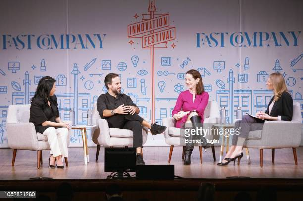 Co-Founder and CEO of Zola Shan-Lyn Ma, Founder and CEO of Farfetch Jose Neves, COO of Compass Maelle Gavet and Senior Editor Amy Farley speak...