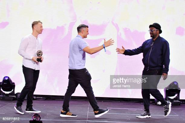 PTTOW cofounder and CEO Roman Tsunder Gary Vaynerchuk and william attend WORLDZ Cultural Marketing Summit 2017 at Hollywood and Highland on July 31...