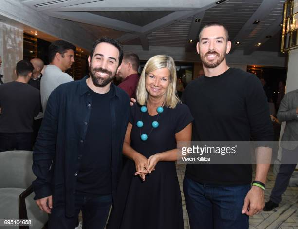 Cofounder and coCEO of Riot Games Brandon Beck BAFTA Los Angeles CEO Chantal Rickards and cofounder and coCEO of Riot Games Marc Merrill attend BAFTA...
