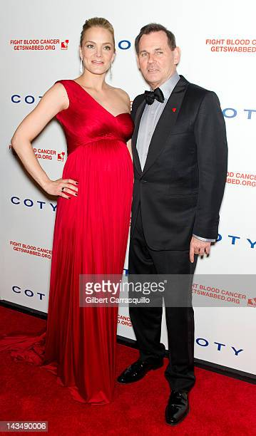 Cofounder and COO of DKMS Americas Katharina Harf and Coty Inc Chief Executive Officer Bernd Beetz attend the 6th annual DKMS Linked Against Blood...