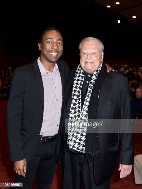 Cofounder and copresident of Scenario PR Steven Wilson and executive director of the Palm Springs International Film Festival Harold Matzner attend...