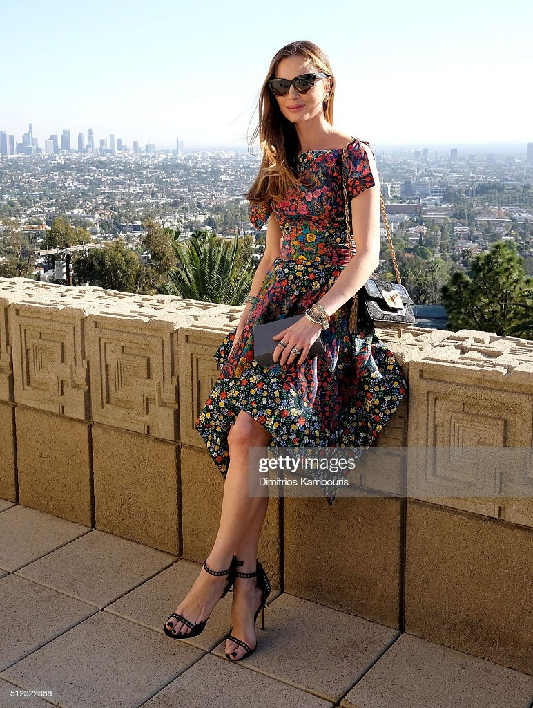 Co-Founder and designer of Marchesa Georgina Chapman attends the M.A.C Cosmetics Zac Posen luncheon at the Ennis House hosted by Karen Buglisi Weiler, Demi Moore & Jacqui Getty on February 25, 2016 in Los Angeles, California.