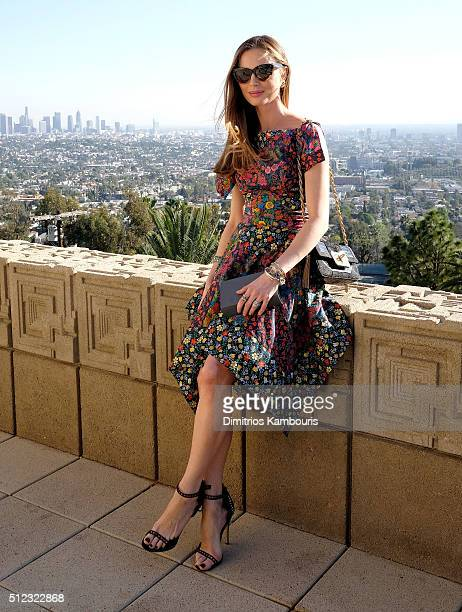 CoFounder and designer of Marchesa Georgina Chapman attends the MAC Cosmetics Zac Posen luncheon at the Ennis House hosted by Karen Buglisi Weiler...