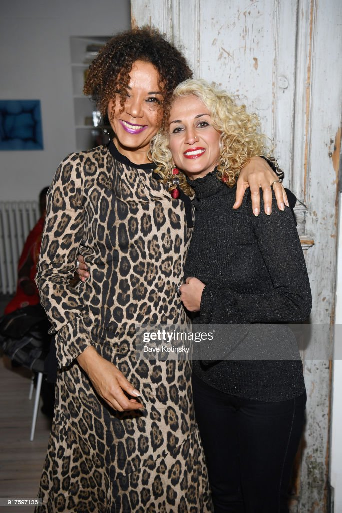 Co-Founder and director of City of Joy and V-Day Congo, Christine Schuler Deschryver (L) and Leila Radan poses during V20: My Revolution Lives In This Body activist evening, a V-Day 20th anniversary event at ABC Carpet on February 12, 2018 in New York City.