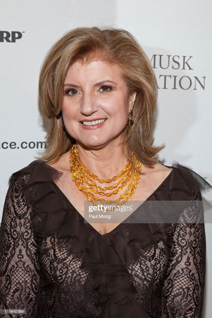 Co-founder and editor-in-chief of The Huffington Post Arianna Huffington at The Huffington Post pre-inaugural ball at the Newseum on January 19, 2009 in Washington, DC.