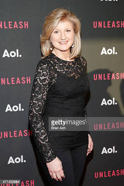 Cofounder and editorinchief of The Huffington Post Arianna Huffington attends the AOL 2015 Newfront on April 28 2015 in New York City
