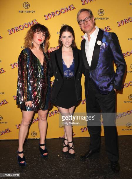 CoFounder and Executive Creative Director of Refinery29 Piera Gelardi Anna Kendrick and Paul Feig attend Refinery29's 29Rooms San Francisco Turn It...