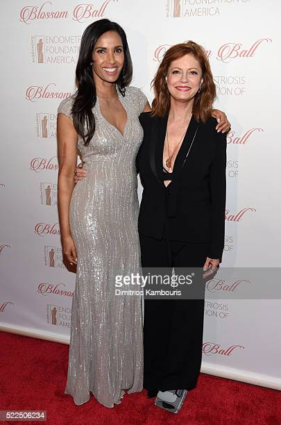 EFA cofounder and host Padma Lakshmi and actress Susan Sarandon arrive at the 8th Annual Blossom Ball benefiting the Endometriosis Foundation of...