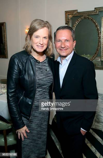 CoFounder and Managing Partner of Socos Vivienne Ming and head of Public Affairs at GLG Richard Socarides attend GLG Social Impact Dinner At Milken...