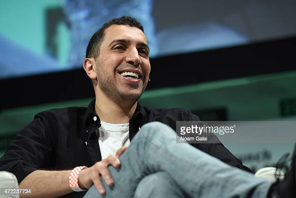 CoFounder and President at Tinder Sean Rad speaks onstage during TechCrunch Disrupt NY 2015 Day 2 at The Manhattan Center on May 5 2015 in New York...