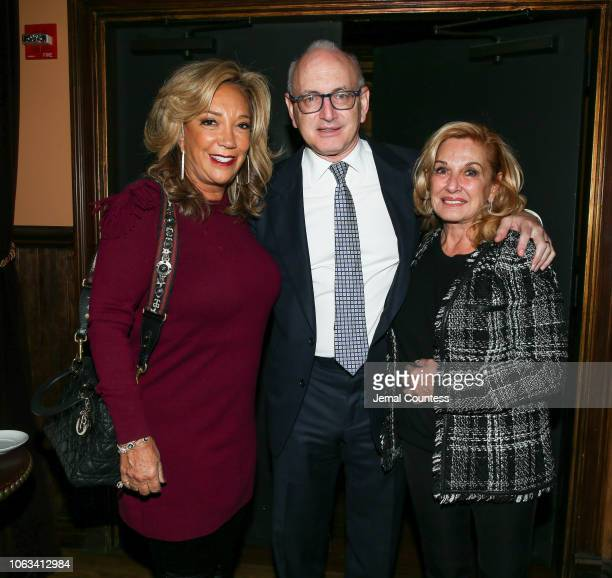 CoFounder and President of Gabrielle's Angel Foundation Denise Rich Medical Advisory Board Chairman Dr Stephen D Nimer and Michelle Vella attend the...