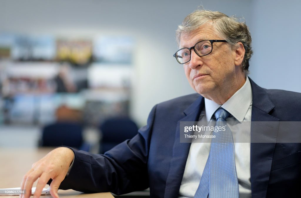 Bill Gates in Brussels to Promote Health and Clean-Energy Initiatives : News Photo