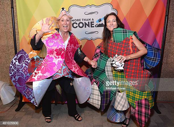 BFAS cofounder Anne Mejia enjoys the 'More Than a Cone' art auction and campaign launch benefiting Best Friends Animal Society in Los Angeles where...