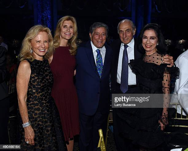 CoFounder Board President Susan Benedetto Tony Bennett and Honoree ETA Board member George S Kaufman Dr Joyce F Brown attend the 9th Annual Exploring...