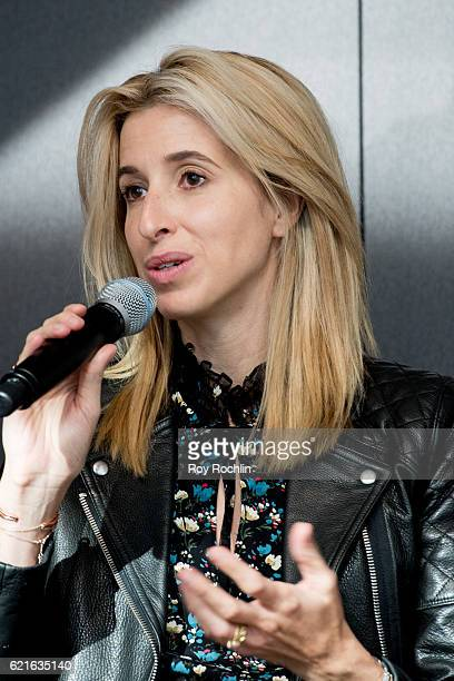Co-Founder & CEO of Birchbox Katia Beauchamp discusses Project Runway: Fashion Startup Stars for a Power Salon at Hearst Tower on November 7, 2016 in...