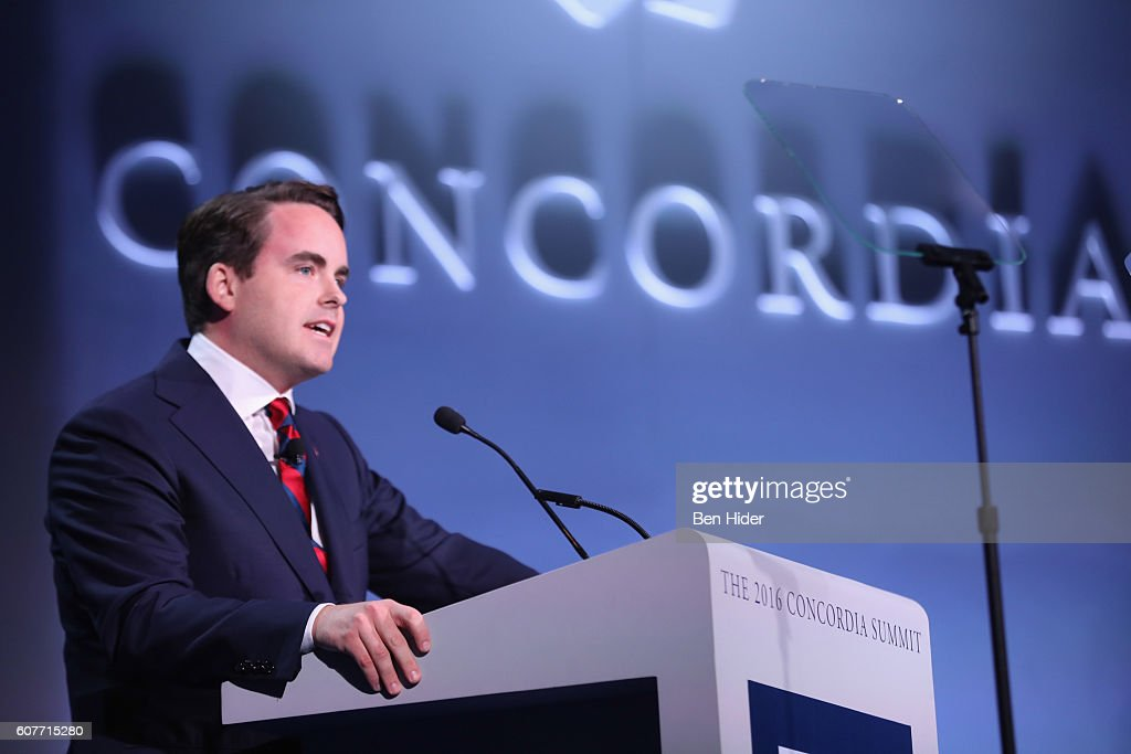 Co-Founder, Chairman, & CEO, Concordia Matthew A. Swift speaks at the 2016 Concordia Summit - Day 1 at Grand Hyatt New York on September 19, 2016 in New York City.