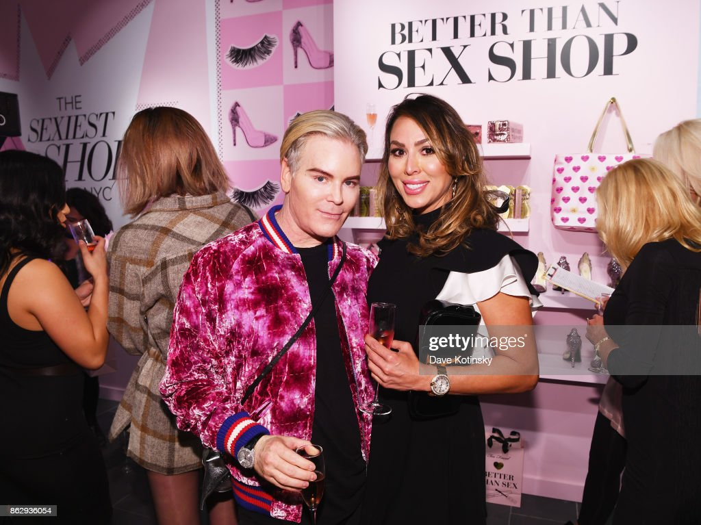 Co-Founder & Chief Creative Officer, Too Faced Cosmetics Jerrod Blandino (L) and Kelly Dodd attend Too Faced's Better Than Sex Pop-up Launch on October 18, 2017 in New York City.