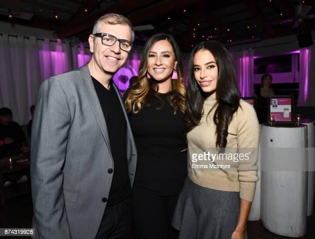 CoFounder CMO Flirtar Glauter Jannuzzi Director of Marketing Flirtar Jacqueline Bowen and Actor Chloe Bridges at Flirtar Launch Party The World's...