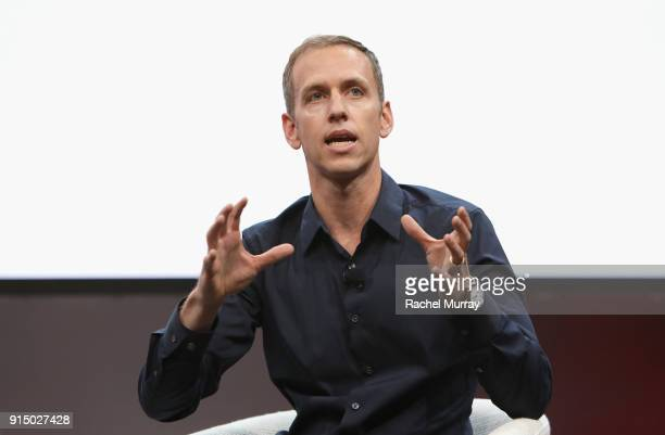 CoFounder CoCEO of Harry's Inc Andy KatzMayfield speaks onstage during The 2018 MAKERS Conference at NeueHouse Hollywood on February 6 2018 in Los...