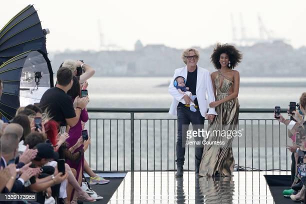 Co-Founder & Creative Director of DUNDAS Peter Dundas walks the runway at DUNDAS x REVOLVE NYFW Runway Show at Casa Cipriani on September 08, 2021 in...