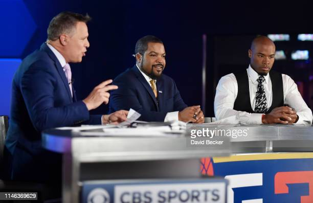 BIG3 cofounder Ice Cube is interviewed ahead of the BIG3 Draft at the Luxor Hotel Casino on May 01 2019 in Las Vegas Nevada