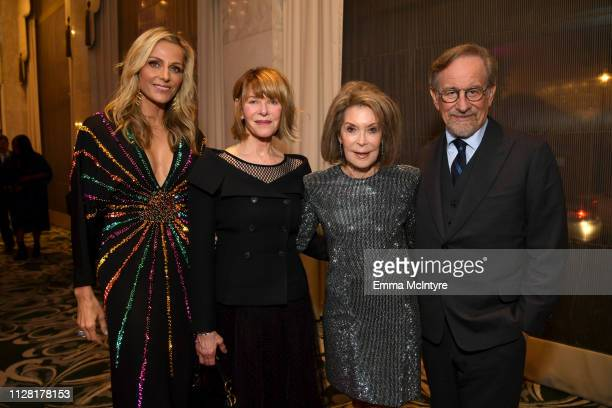 "Co-Founder Jamie Tisch, Kate Capshaw, WCRF Co-Founder Marion Laurie and Steven Spielberg attend WCRF's ""An Unforgettable Evening"" at the Beverly..."