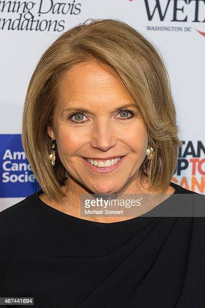 """Co-Founder Katie Couric attends the """"Cancer: The Emperor of All Maladies"""" New York Screening at Jazz at Lincoln Center on March 24, 2015 in New York..."""