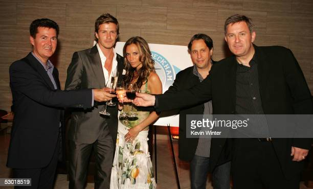 Cofounder of 19 Entertainment and creator of American Idol Simon Fuller England and Real Madrid football player David Beckham wife Victoria agent...