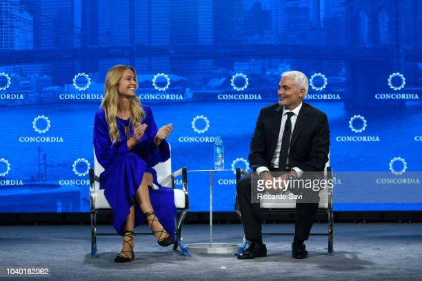 CoFounder of All Hands and HeartsSmart Response Petra Nemcova and CEO of the Fiore Group and Founder and President of Radcliffe Foundation Frank...