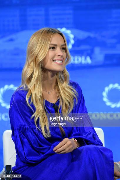 CoFounder of All Hands and HeartsSmart Response Petra Nemcova speaks onstage during the 2018 Concordia Annual Summit Day 2 at Grand Hyatt New York on...