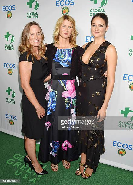 Cofounder of All it Takes Lori Woodley actress Laura Dern and actress/honoree Shailene Woodley attend the Global Green 20th Anniversary Environmental...