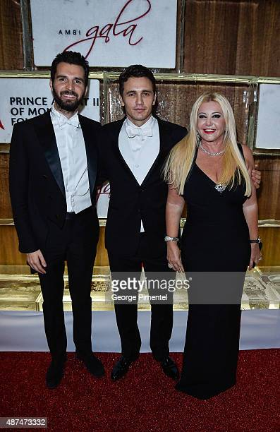 Cofounder of AMBI Pictures Andrea Iervolino actor James Franco and AMBI Pictures cofounder Monika Bacardi attend the 2015 Toronto International Film...