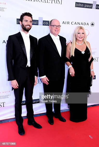 Cofounder of AMBI Pictures Andrea Iervolino His Serene Highness Prince Albert II of Monaco and AMBI Pictures cofounder Monika Bacardi attend the 2015...