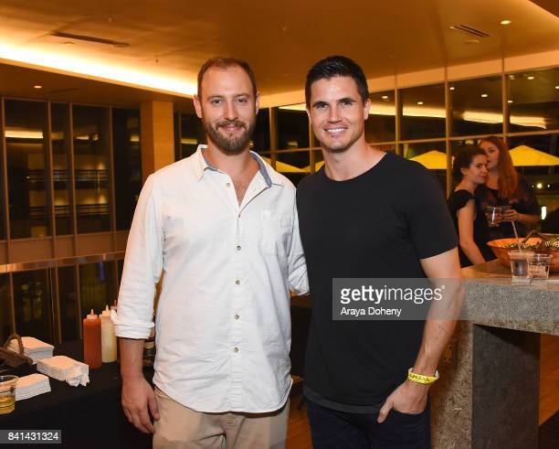 Cofounder of And Action Evan Goldberg and Robbie Amell celebrate And Action LA premiere at Cinemark Playa Vista and XD Visit weorg/andaction for more...