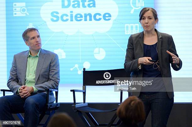 CEO Cofounder of AppNexus Brian O'Kelley and Chief Data Scientst of AppNexus Catherine Williams speak onstage at the Behind The Scenes on the Fight...