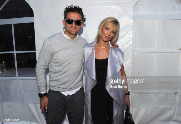CoFounder of Berne Casey Neistat and Executive Fashion Beauty Editor Harper's BAZAAR Avril Graham attend the Kairos Society Global Summit Welcome...