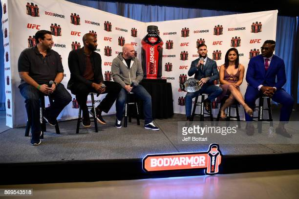 Cofounder of BodyArmor Mike Repole BodyArmor investor Kobe Bryant UFC President Dana White UFC Bantamweight Champion Cody Garbandt UFC strawweight...