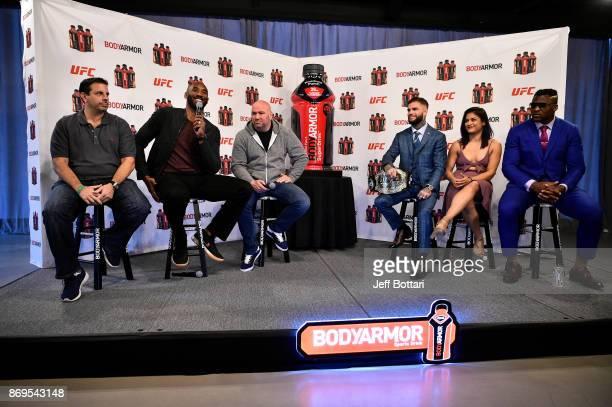 Cofounder of BodyArmor Mike Repole UFC President Dana White BodyArmor investor Kobe Bryant UFC Bantamweight Champion Cody Garbandt UFC strawweight...