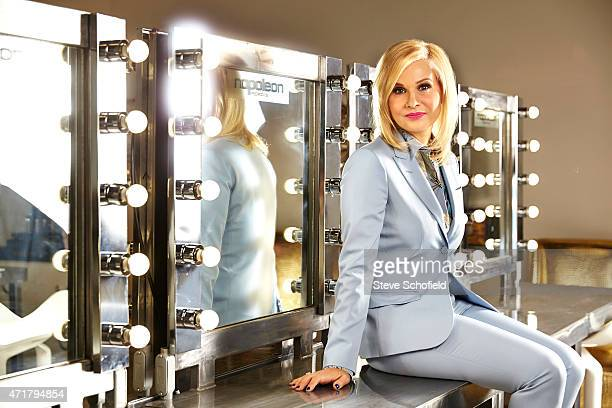 Cofounder of cosmetics firm Napoleon Perdis Soulla Marie Perdis is photographed for In the Black magazine on November 23 2014 in Los Angeles...