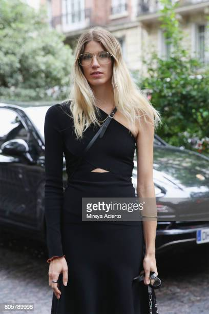 CoFounder of digital platform heywomancom Veronika Heilbrunner attends the Proenza Schouler Haute Couture fashion show on July 2 2017 in Paris France