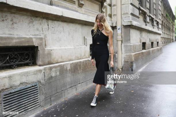 Co-Founder of digital platform, heywoman.com, Veronika Heilbrunner, attends the Proenza Schouler Haute Couture fashion show on July 2, 2017 in Paris,...