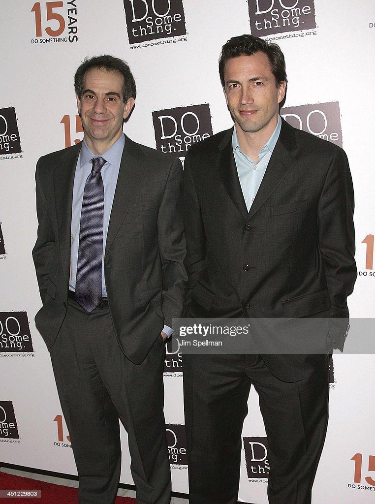 Photo of Andrew Shue & his friend Michael Sanchez