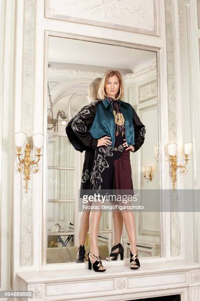 108636006 Cofounder of Ever Consulting and editor Elizabeth Von Guttman is photographed for Madame Figaro on November 29 2013 in Paris France Jacket...