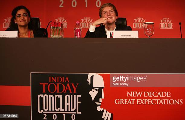 Cofounder of Facebook Chris Hughes at the second day of the India Today Conclave in New Delhi on March 13 2010