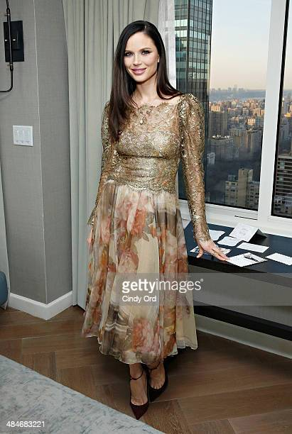 CoFounder of fashion label Marchesa Georgina Chapman attends as Wedding Paper Divas with Marchesa unveil their new bridal stationery collection at...